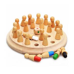 Дерев'яна розвиваюча гра Lesko DL-002 Memory Chess для дітей