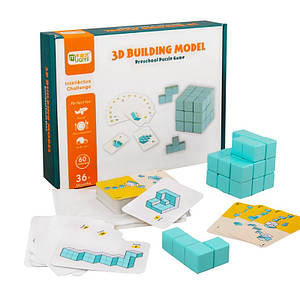 Дерев'яна розвиваюча гра Lesko DL-0236 Building 3D Model для дітей