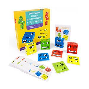 Деревянная развивающая игра Lesko DL-1123 Рожицы для детей