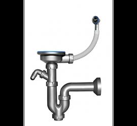 Сифон для керамогранітної мийки, з відводом для пральної машини, випуск 114 мм, труба 40 мм (NOVA 1149)