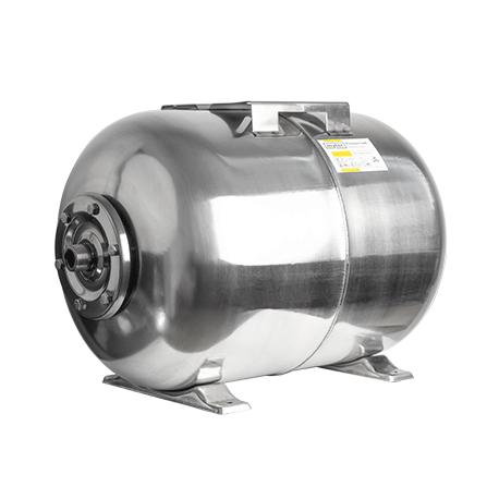 Гидроаккумулятор горизонтальный Mytec 50 л нержавеющая сталь