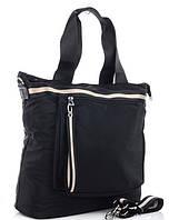 Жіноча тканинна сумка 00112 black Тканинні сумки недорого Текстильні сумки купити недорого
