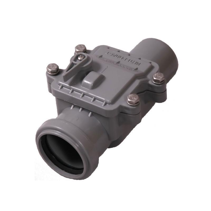 Зворотний (запірний) клапан для внутрішньої каналізації Інтерпласт 50 мм