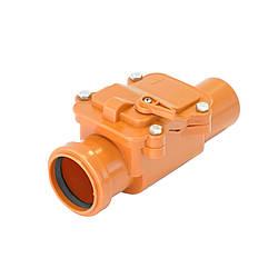 Обратный (запорный) клапан для внутренней канализации Интерпласт 110 мм