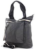 Жіноча тканинна сумка 00112 grey Тканинні сумки недорого Текстильні сумки купити недорого