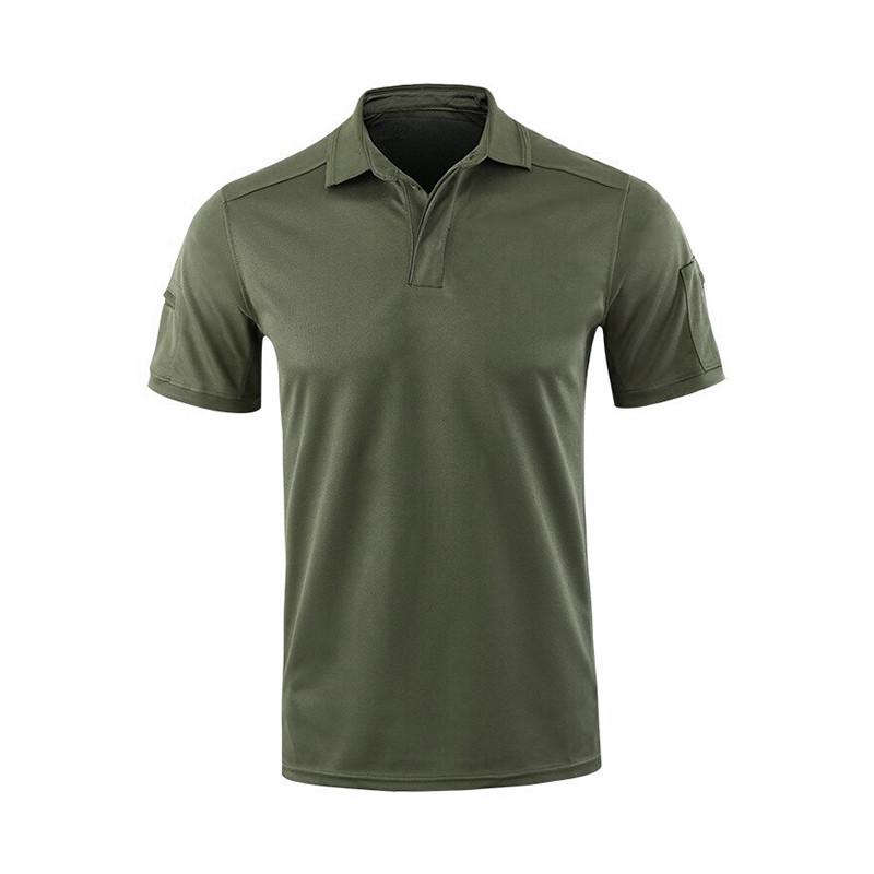 Мужская тактическая футболка с коротким рукавом Lesko A817 Green размер M форменная