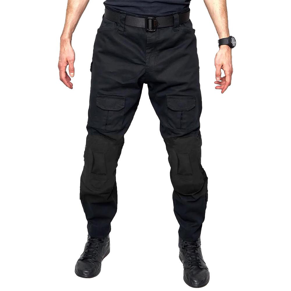 Тактические штаны Lesko B603 Black 38 размер брюки мужские милитари камуфляжные с карманами