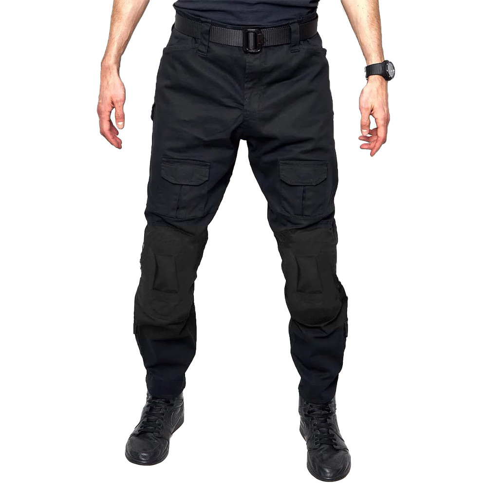 Тактичні штани Lesko B603 Black 38 розмір штани чоловічі мілітарі камуфляжні з кишенями