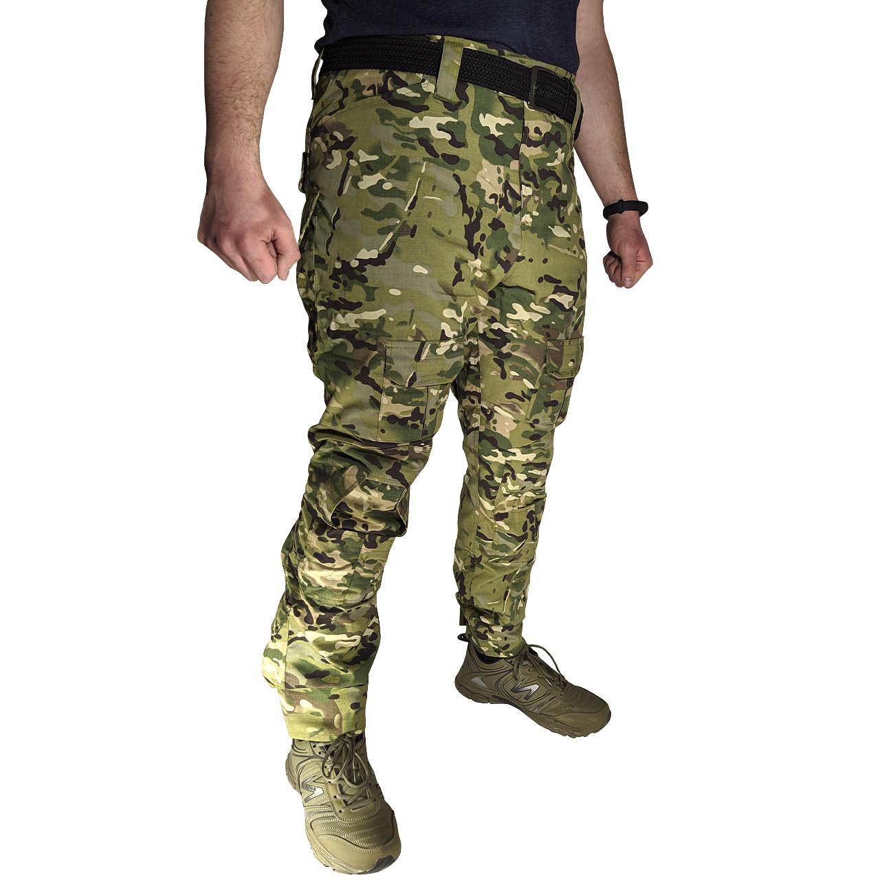 Тактические штаны Lesko B603 Camouflage 40 размер брюки мужские милитари камуфляжные с карманами
