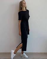 Жіноче літнє плаття міді під пояс