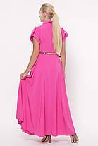 Длинное ярко-розовое платье макси размер 48-56, фото 3