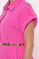 Длинное ярко-розовое платье макси размер 48-56, фото 2