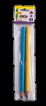 Карандаш графитовый трехгранный JUMBO HB, полибег (по 2 шт.), BABY Line