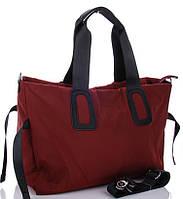Жіноча тканинна сумка 0885 bordo Тканинні сумки недорого Текстильні сумки купити недорого