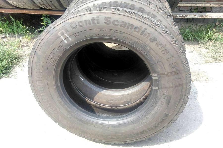 Шины б.у. 215.75.r17.5 Continental Conti Scandinavia LD3 Континенталь . Резина бу для грузовиков и автобусов