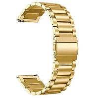 Браслет для смарт часов и для Samsung Galaxy Watch . Золотой цвет 20 и 22 мм . Есть и другие цвета