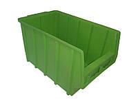 Ящик складской 700 (350х210х200 мм) для хранения метизов зеленый, фото 1