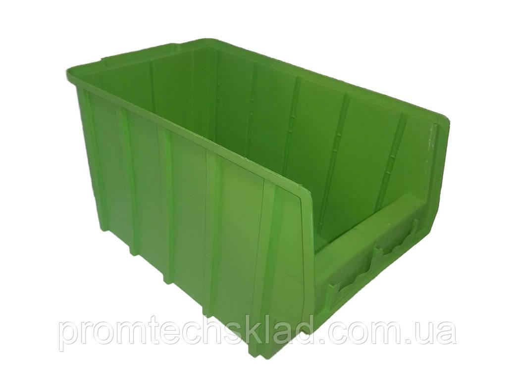Ящик складской 700 (350х210х200 мм) для хранения метизов зеленый