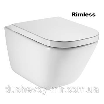 ROCA GAP Rimless унитаз подвесной с сиденьем slow-closing (в упак.) A34H47C000
