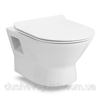 Унитаз FIESTA RIM подвесной, сиденье твердое SLIM slow-closing (500*360*350мм)