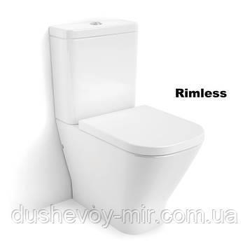 GAP Rimless унитаз напольный, в комплекте с бачком, с сиденьем slow closing, A34D738000
