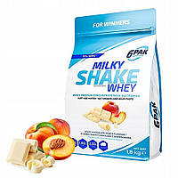 6PAK Milky Shake Whey 1800g White Choc Peach Протеин для похудения