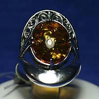Массивное серебряное кольцо с кабошоном Мелодия 1011