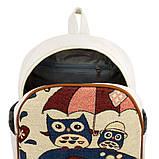 Рюкзак міський полотняний Can Vas Дощик S 30x24x11 см Білий (22136), фото 3