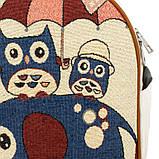 Рюкзак міський полотняний Can Vas Дощик S 30x24x11 см Білий (22136), фото 4