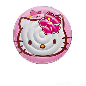 Дитячий надувний матрац Intex 56513 «Hello Kitty», 137 см, (Оригінал)
