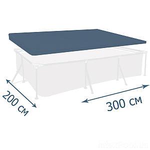 Тент - чохол для каркасного басейну Intex 28038, 300 х 200 см, (Оригінал)