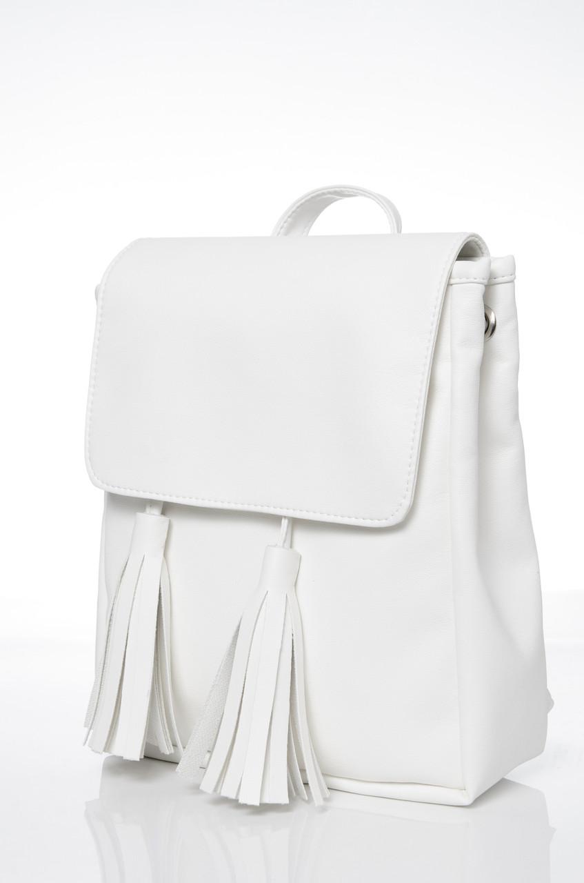 Жіночий рюкзак Sambag Loft SZN Білий (22100008e)