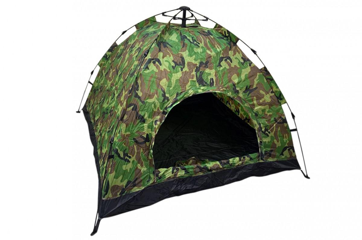 Палатка автоматическая 6-х местная туристическая 200х250 см, водонепроницаемая Камуфляж (хакки)