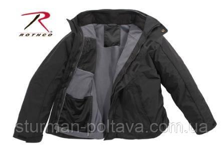 Куртка  тактическая многосезонная с подстежкой ROTHCO ALL WEATHER 3 IN 1 JACKET - BLACK