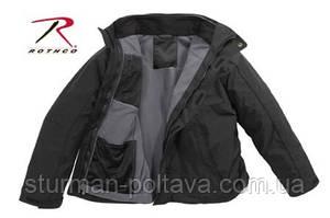 Куртка тактична многосезонная з підстібкою ROTHCO ALL WEATHER 3 IN 1 JACKET - BLACK