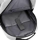 Повсякденний рюкзак тканинний Lesko LP-1123 Світло-сірий, фото 5