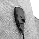 Повсякденний рюкзак тканинний Lesko LP-1123 Світло-сірий, фото 6