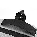 Повсякденний рюкзак тканинний Lesko LP-1123 Світло-сірий, фото 7