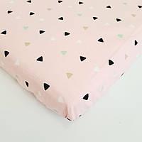 Простынь на резинке HappyLittleFox Розовый   Сатин   120 х 60 (210027)