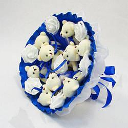 Букет з іграшок Igratoria Ведмедики 9шт. синій (5339IT)