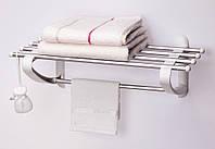 Полка в ванную для полотенец 50 см белого цвета