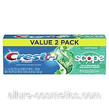 2x Зубная паста свежее дыхание Crest Scope Toothpaste 306гр (Упаковка из 2шт)