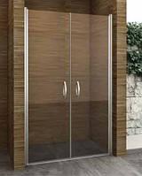 Двустворчатая душевая дверь распашная Aqua-World Pivot PV100S2 ДкПд2.100-Im стекло интимато