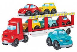 """003289 Конструктор """"Автотранспортер"""" з 6 машинами, 18 міс.+"""