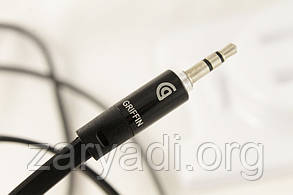 AUX кабель 3,5mm, Griffin, Черный AUX, аудио кабель jack-jack, 3,5mm, Griffin, Черный