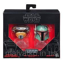 """Міні-шоломи Боба Фетті і принцеса Лея """"Зоряні війни"""" - Star Wars, Black Series, Hasbro"""