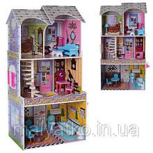Дерев'яний будиночок з меблями для ляльок (аналог KidKraft) арт. 2010