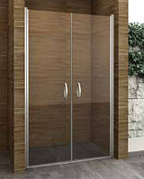Двустворчатая душевая дверь распашная Aqua-World Pivot PV100S2 ДкПд2.100-Tr стекло прозрачное