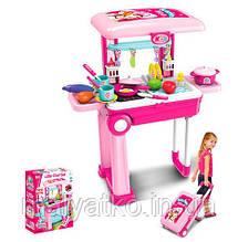 Дитяча кухня на стійці - валізі РОЖЕВА арт. 008-921