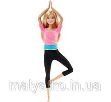 Рухайся як я Лялька Барбі - йога супергибкая Barbie Made to Move Barbie Doll, Pink Top